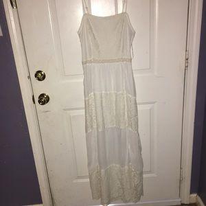 Bohemian white sun dress by roommates.